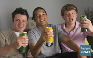 Teen boy's drinking